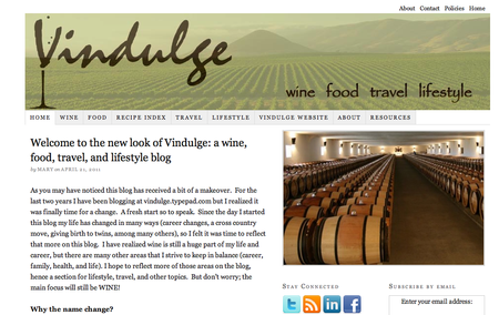 Vindulge Blog Homepage